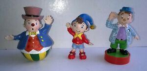 """3 figurines """" Oui-Oui et ses amis"""" (C) EBL TM - Papo - Hachette Livre"""