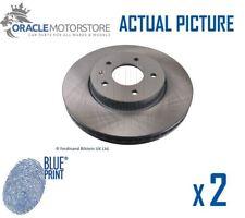 2 x NEW BLUE PRINT FRONT BRAKE DISCS SET BRAKING DISCS PAIR OE QUALITY ADG043126