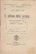 IL MILIONE DELLA LOTTERIA di Decio Guicciardi - Trevisini Api dorate anni '20?