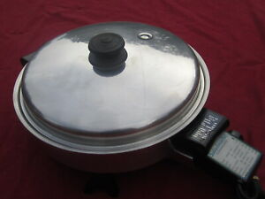 "SALADMASTER 11"" STAINLESS STEEL ELECTRIC SKILLET - FREE SHIPPING"