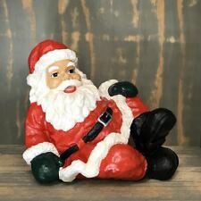 WEIHNACHTS MANN NIKOLAUS sitzt Deko Weihnachten ADVENT sitzend SANTA CLAUS
