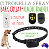 NEW 2019 80M REMOTE CONTROL + CITRONELLA AUTOMATIC RECHARGEABLE BARK STOP COLLAR