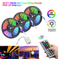 5/10/15M Flexible 3528 RGB LED SMD Strip Light Remote Fairy Lights Room TV Party