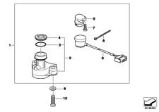 Steering Lock Housing, 51252345743, Bmw, F650CS, F650GS, Dakar, G650GS