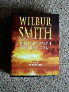WILBUR SMITH - THE TRIUMPH OF THE SUN -    AUDIO BOOK-    (  4  CASSETTES)