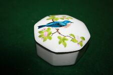 Vintage Otagiri Trinket Box w/bird on lid - Gibson Greeting Cards *Look*