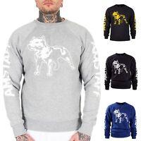 Amstaff Sweater Logo Herren Pullover Men Rundhals S M L XL XXL 3XL NEU