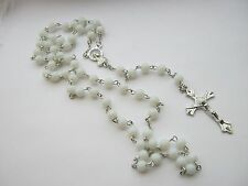 White Rosary Beads First Holy Communion Religious Christian Prayer Rosary Beads
