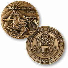 U.S. Army - Airborne All The Way - Bronze Challenge Coin