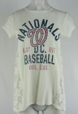 Washington Nationals MLB Touch Women's Short-Sleeve Floral Mesh Top