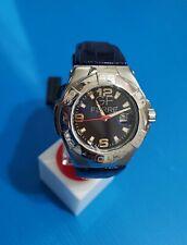 gf ferrè men's watch swiss case steel size 47mm time date,blu anthracite