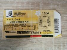 Ticket :  KAA Gent - Club Brugge 24.02.2001