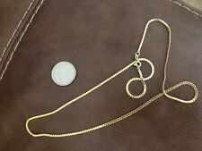 """14K Solid Yellow Gold Chain 24"""" 9 Grams 2mm Wide"""