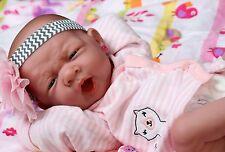 "NEW BABY GIRL DOLL REAL REBORN BERENGUER 15"" INCH VINYL LIFELIKE NEWBORN"