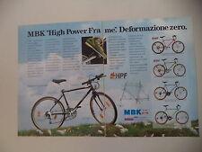 advertising Pubblicità 1991 BICICLETTA MOUNTAIN BIKE MBK TRACKER