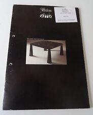 Möbel Design Tucina per Skipper Prospekt Katalog Messekatalog 80er Jahre