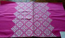 MANUEL CANOVAS ~ Paris Fabric Remnant - KAYA 03 - Embroidered SATIN - 27x16 $260