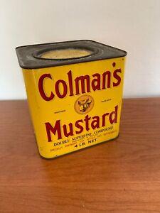 VINTAGE ORIGINAL COLMAN's MUSTARD Large 4LB Double Supreme Compound Tin