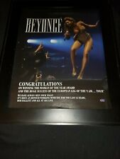 Beyonce Woman Of The Year Aeg Live Rare Original Promo Poster Ad Framed!