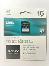 Sony 16GB SDHC I Memory Card - Class 4 - 15 MB/S - SF-16C4