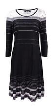 Nine West Women's Striped A-Line Sweater Dress Size L $79 # 2E 163/L