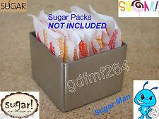 Sugar Packet Packs Pack Caddy Holder Stainless Steel Restaurant Style