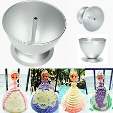 3D Princess Dress Doll Cake Fondant Baking Pan Tin Decoration Making Mould Mold
