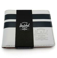 Herschel Supply Co Hank Smooth Leather Wallet Lunar Rock Grey Striped