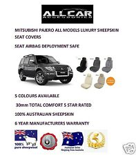 Sheepskin Car Seatcovers for Mitsubishi Pajero,Seat Airbag Safe, 5 Colours 30mm