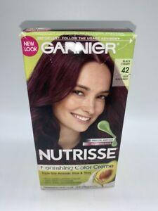 Garnier Nutrisse Nourishing Hair Color Creme (Reds), 42 Deep Burgundy
