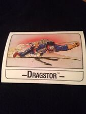 1986 Mattel Wonder Bread Masters Of The Universe Dragster Card(rare)