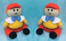 KNITTING PATTERN - Tweedle Dee and Dum inspired choc orange cover / 14cms toy