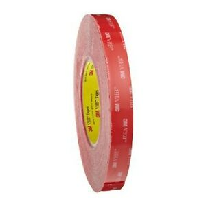 3M VHB 4910F Clear Acrylic Double Sided Tape 12mm 19mm 25mm 1-20 metre Rolls