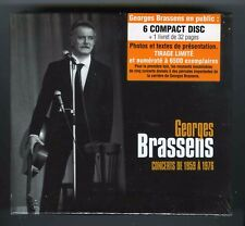 GEORGES BRASSENS BOX 6 CDs + LIVRET 32 PAGES (NEUF) CONCERTS DE 1959-1976