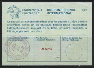 UNITED STATES - #C22 - 80c USED INTERNATIONAL REPLY COUPON MINNEAPOLIS, MN