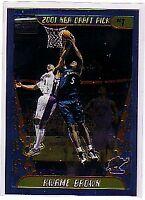 2001-02 Topps Chrome Washington Wizards Basketball Card #165 Kwame Brown Rookie