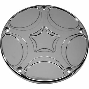Carl Brouhard Chrome Spiro Series Derby Cover for 1999-2017 Harley Twin Cams
