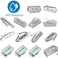1PC 10W-400W IP67 Waterproof LED Transformer Driver Power Supply For Strip DC12V
