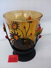 Windlicht mit Glaseinsatz und Sonnen Deko für Teelichter/Votivkerzen Art. 1258