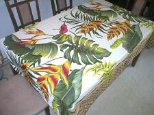 Hawaiian Tropical Flower Water Resist Hawaiian Quilt Print Tablecloth 60x84