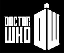 Doctor Who Decal, White vinyl sticker for car or computer. Australian made