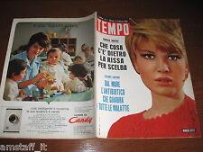 RIVISTA TEMPO 1966/7=MONICA VITTI=MICKEY ROONEY=PUBBLICITA' CANDY LAVATRICE=