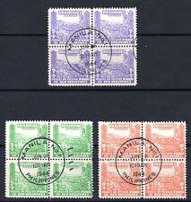 B&D: 1942 Philippines Scott NB1-NB3 occupation semi-postals blocks/4 superb cxls