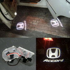 2x White Accord Projector Logo Led Laser Door Lights Bulb For Honda Accord 13-19