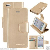 Genuine MERCURY Goospery Gold Leather Flip Case Wallet Cover For iPhone 5/5s/SE