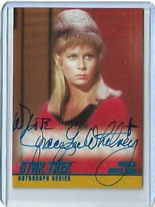 Star Trek TOS 1 Autograph Card A5 Grace Lee Whitney As Yeoman SCARE 800 SIGNED