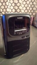 "Casio Model TV-100B Mini Handheld Portable Standard Television 2"" LCD Screen"