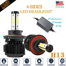 4Side Canbus 120W 32000Lm H13 9008 Hi/Low Beam Led Headlight Bulb 6500K Bright(Fits: Hummer)