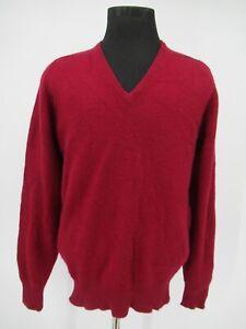 M9042 VTG Men's Brooks Brothers V-Neck Cashmere Pullover Sweater Size 44