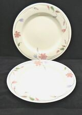 Mikasa Satin Ivory Hyde Park Japan Pink & Purple Floral Chop Platters x2